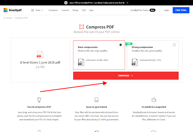 How to easily compress a PDF file