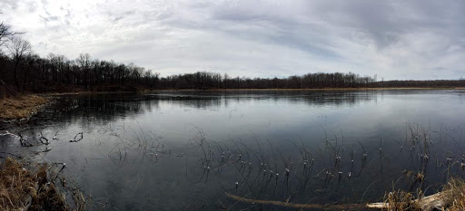 Ice returning on south Twin lake early Saturday morning after temps in the single digits