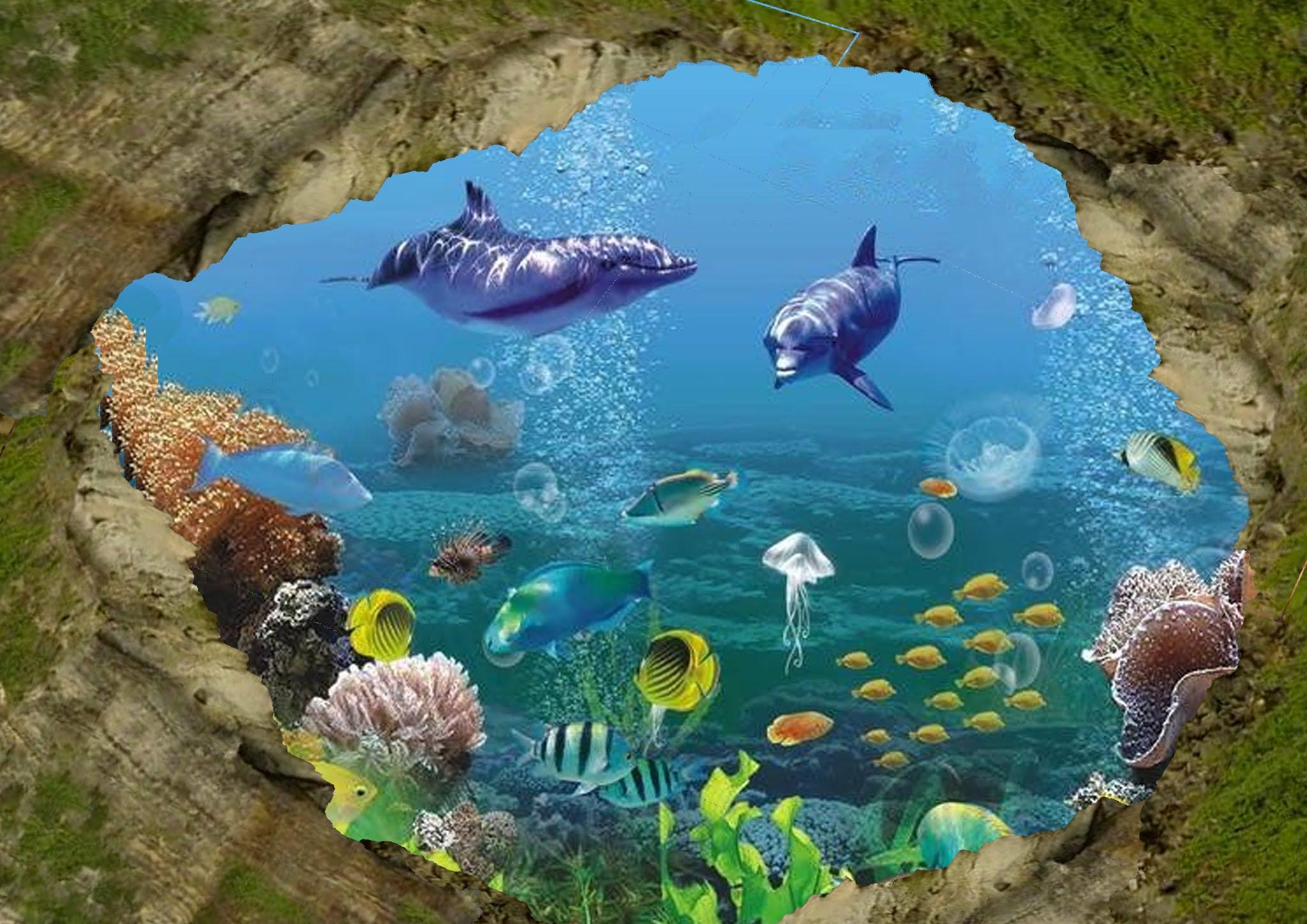 Contoh Lukisan Mural Bawah Laut Sederhana
