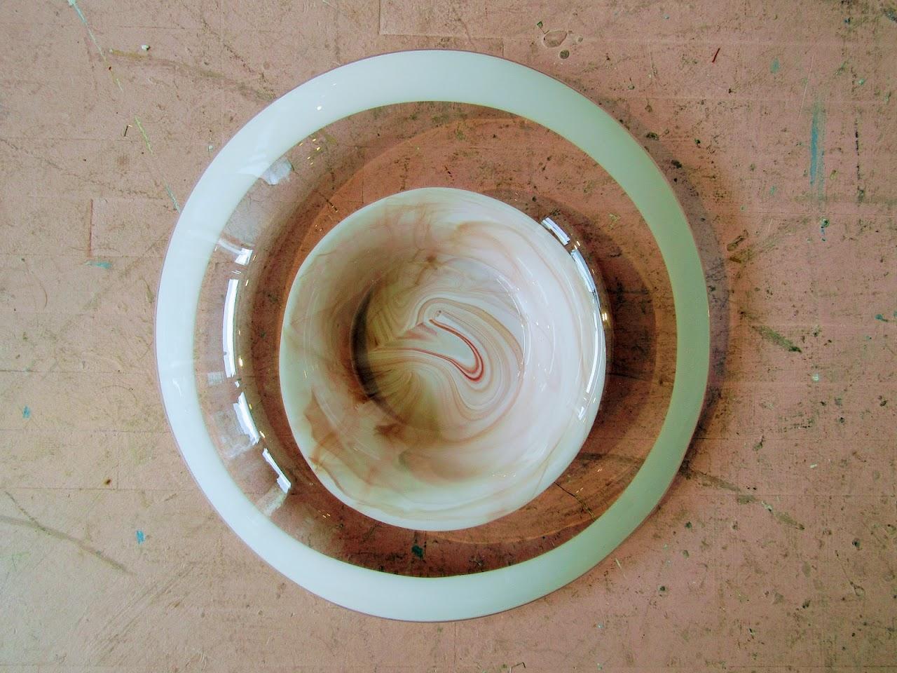 Oversized Italian Art Glass Bowl