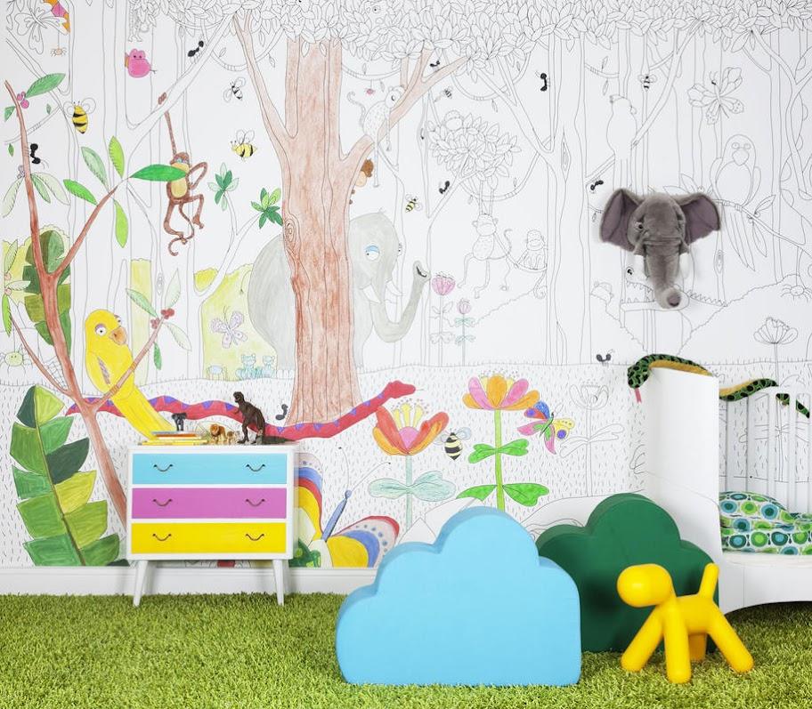 Kinderzimmer wandbemalung vorlagen  Kinderzimmer Wandbemalung Vorlagen - Garten Ideen Buch