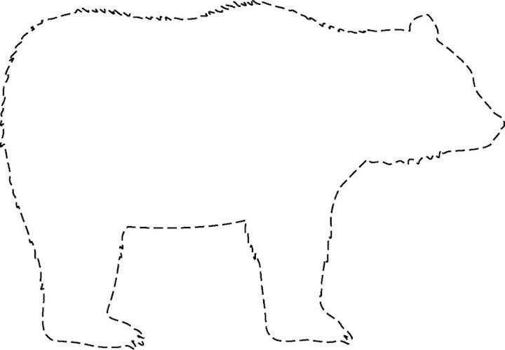 siluetas de osos para recortar