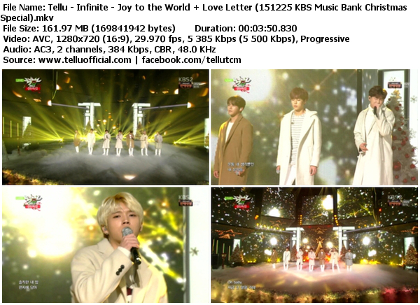 Download Perf Infinite – Joy to the World + Love Letter @ KBS Music Bank Christmas Special 151225