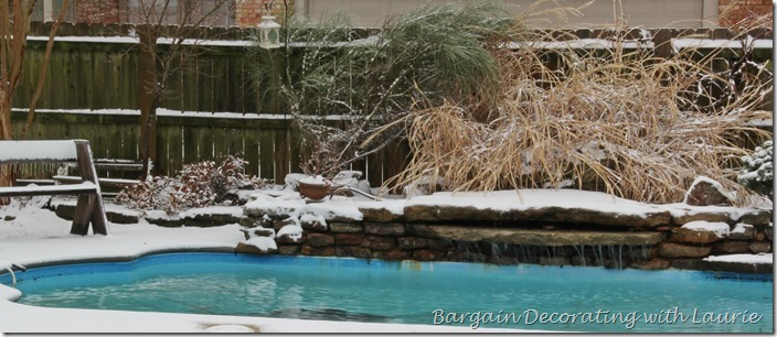 Pool in Snow-Bargain Decorating with Laurie
