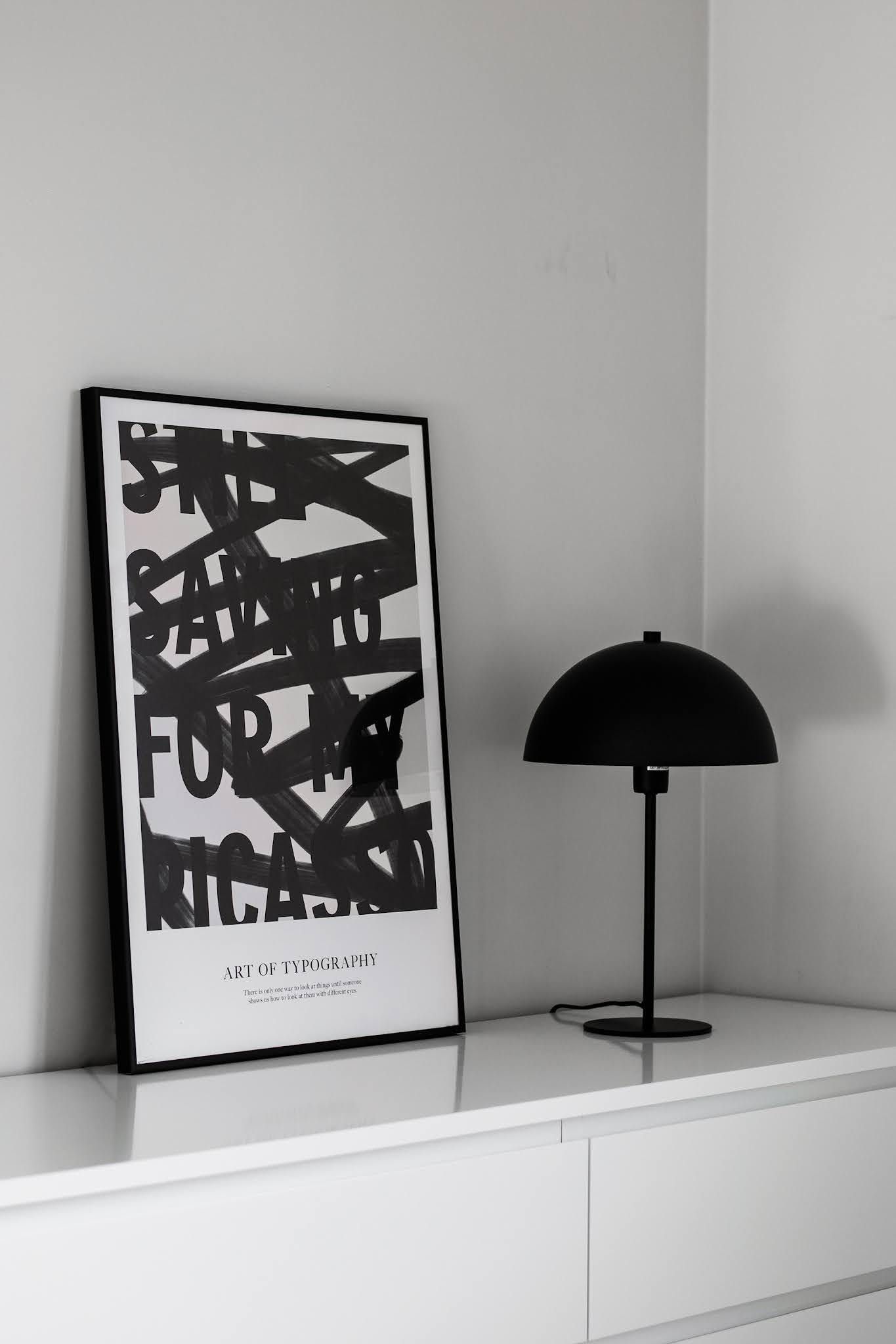 Desenio, posters, black white, minimal, zwart wit, Art of typography no2, picasso,