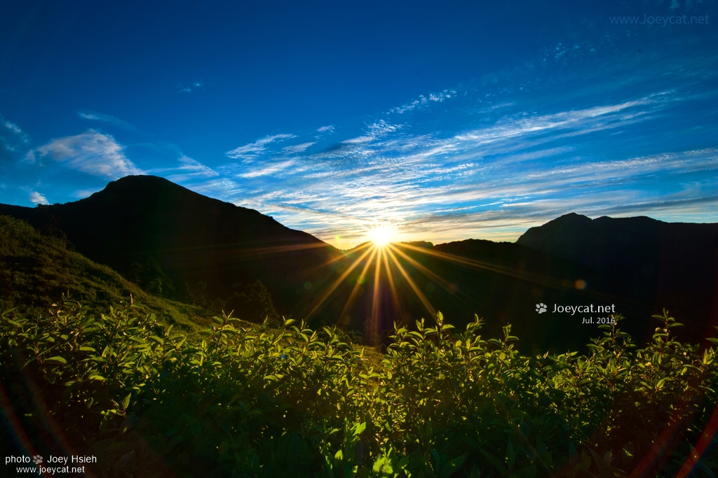 夏季銀河 武嶺 日出