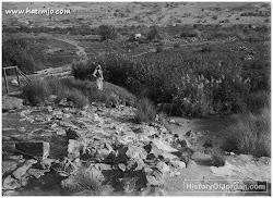 اربد / الحمة (المياه الساخنة) ، على نهر اليرموك ، نهاية العشرينات من القرن الماضي