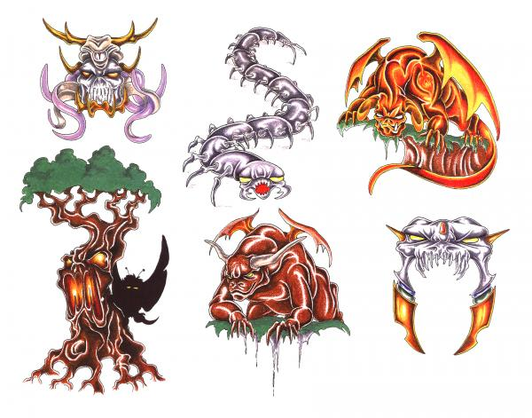 Design Of Silent Tattoo 7, Fantasy Tattoo Designs