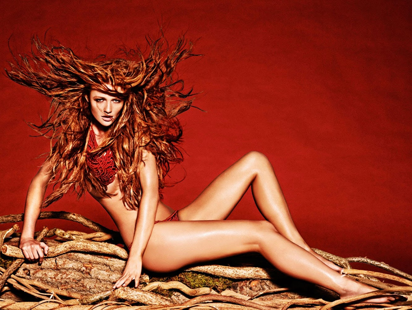 Sexiest Coconut Water Ad Campaign Ever — The #AMAZONpower Tribal Looks of Adriana Lima, Emanuela de Paula, Cintia Dicker