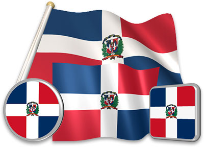 Dominican flag animated gif collection