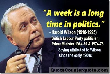 Harold Wilson week in politics quote 1960s