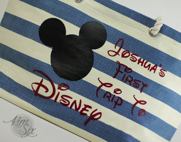First Trip to Disneyland Personalized Tote Bag2