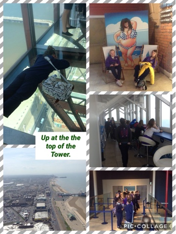 Year 6 treat day at Blackpool Tower.