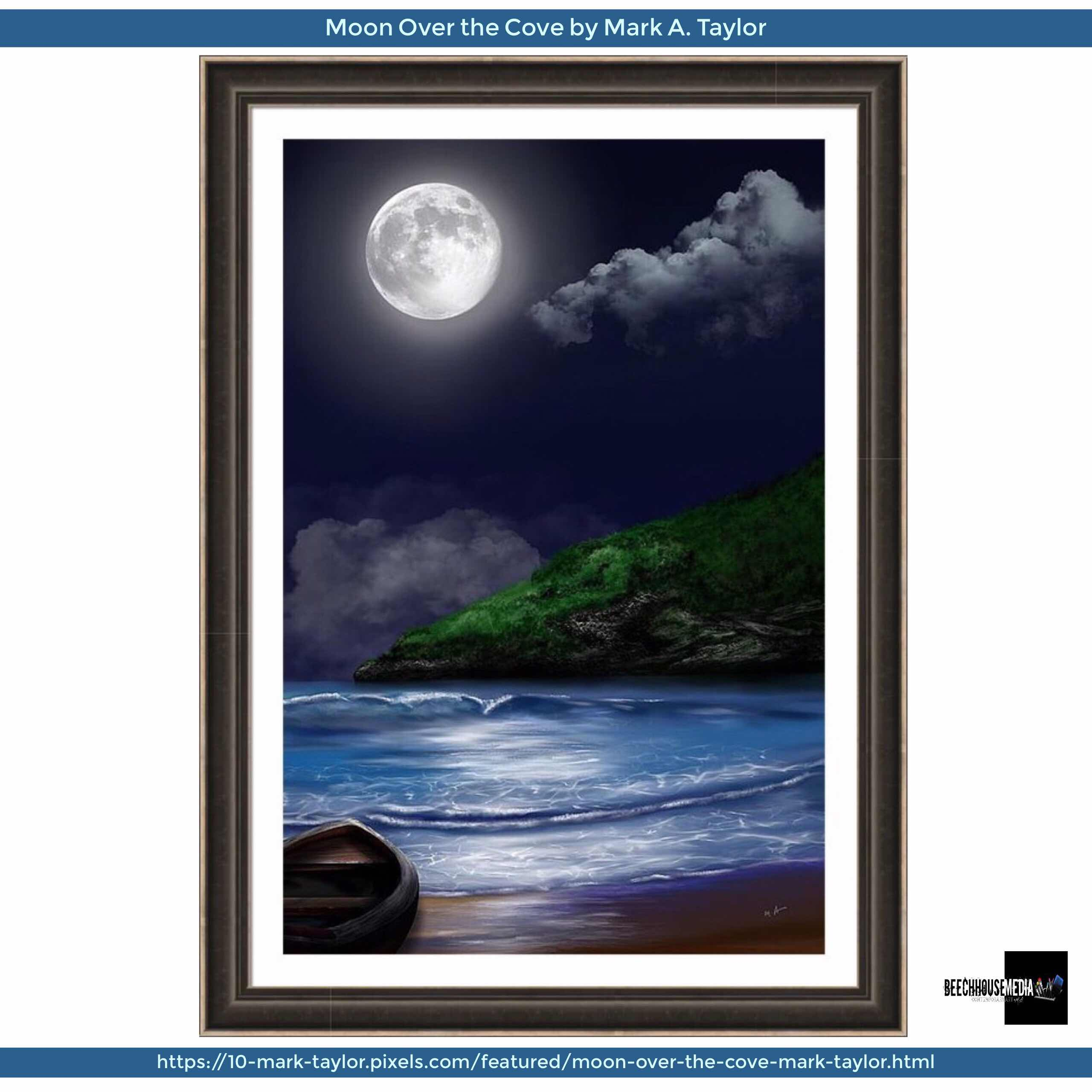 moon Over the Cove art by Mark Taylor