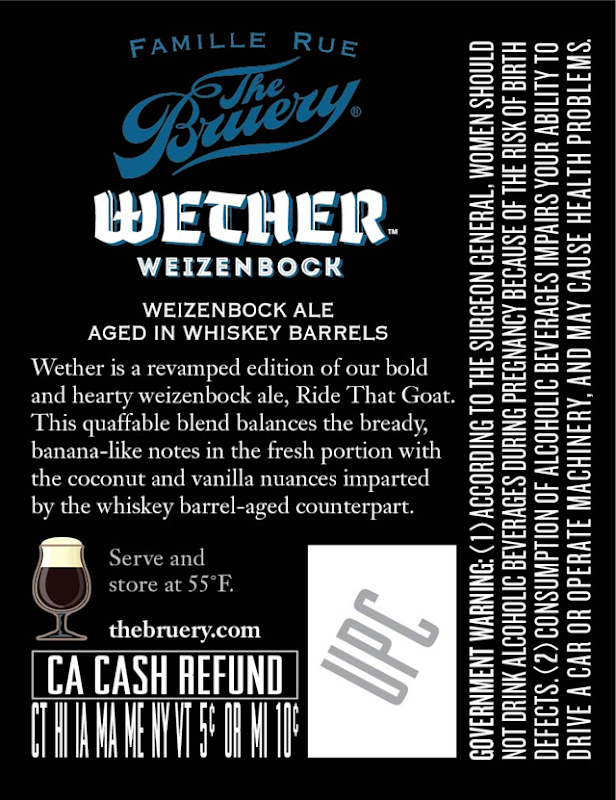 The Bruery Adding Wether Barrel-Aged Weizenbock