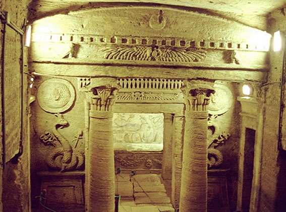 Catacumbas subterrâneas de Alexandria 04