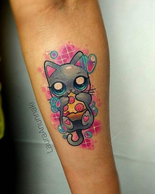 este_pequeno_e_encantador_gato_kawaii_tatuagem