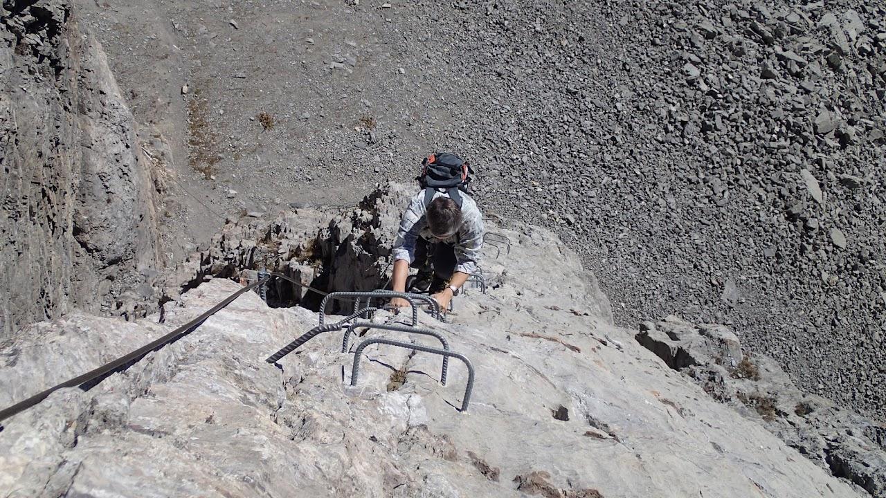 Klettersteig Graustock : Klettersteig graustock chregu