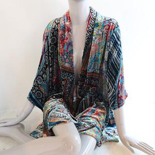 Johnny Was Velvet Kimono