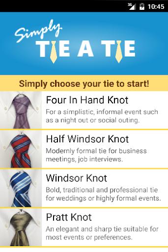 Simply Tie A Tie