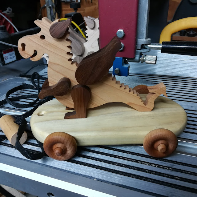 Handmade Wood-Dragon After The Finish Has Been Applied