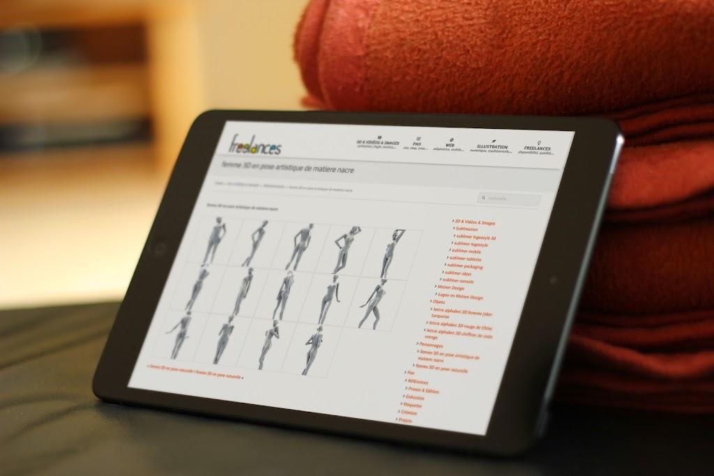 capture écran pour tablettes sublimer présentation responsive web design conception site web adaptatif mini iPad