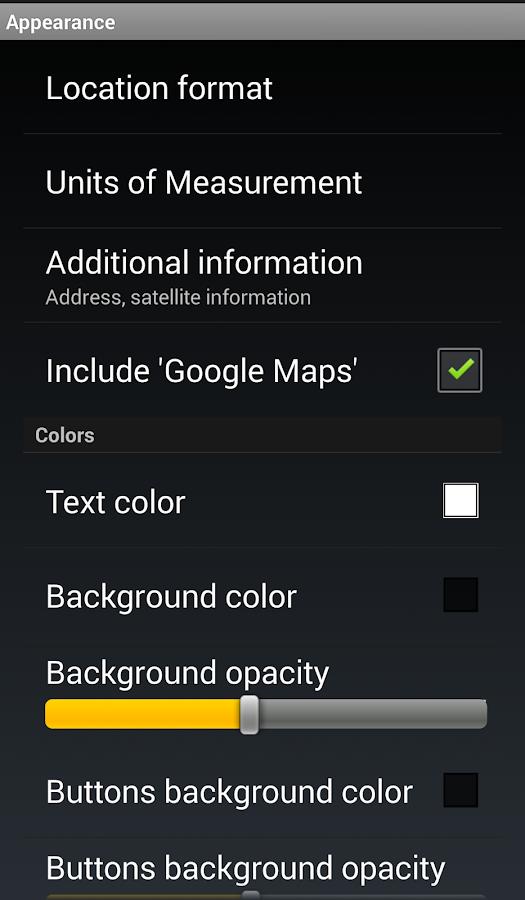 GPS Widget Pro- screenshot