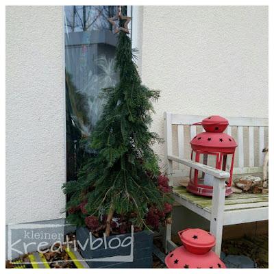 kleiner-kreativblog: weihnachtliche Außendeko