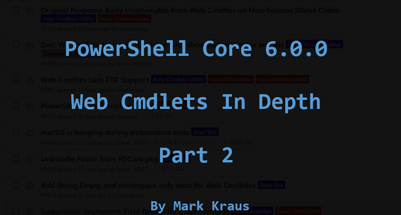 Get-PowerShellBlog: PowerShell Core Web Cmdlets in Depth
