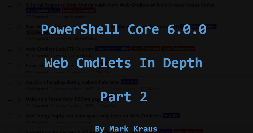 Get-PowerShellBlog: PowerShell Core Web Cmdlets in Depth (Part 2)
