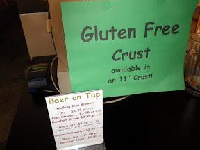 you know how I know it's Oregon? Because even the small-town-mid-river pizzerias have Gluten-Free Crust