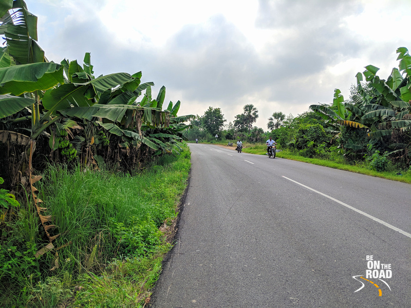 A scenic motorcycle ride through the lush Thamarabharani delta of India's deep south