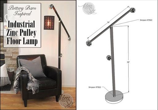 DIY Pottery Barn Pulley Floor Lamp