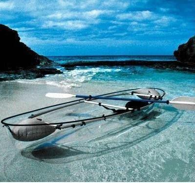 kayak-canoa transparente