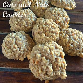 Oats and Nuts Cookies #CreativeCookieExchange