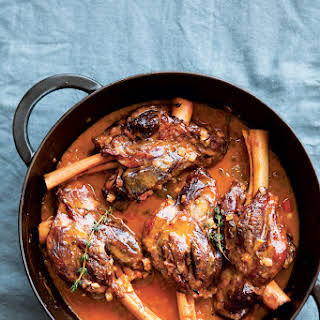 Citrus-Braised Lamb Shanks.