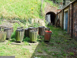 July 2007, the pleasantly shabby forgotten corner behind the engine house, apparently now a graveyard for bins