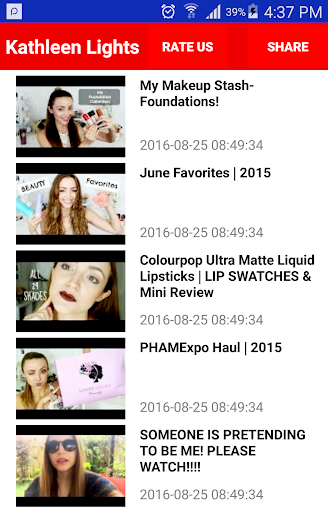 KathleenLights: Face Makeup Screenshot