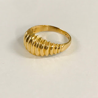 14K Gold Domed Ring