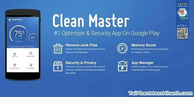 Tính năng chính của Clean Master