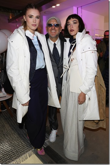 FLORENCE, ITALY - JANUARY 11:  Gaia Weiss, Andrea Panconesi and Mia Moretti attend The Icon Project Peuterey by LUISAVIAROMA on January 11, 2017 in Florence, Italy.  (Photo by Vittorio Zunino Celotto/Getty Images for LUISAVIAROMA)