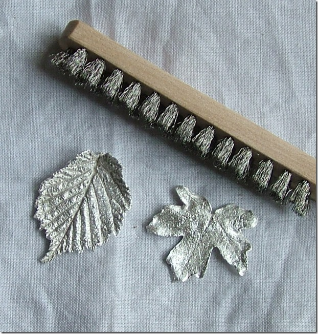 Silver leaves scrubbed