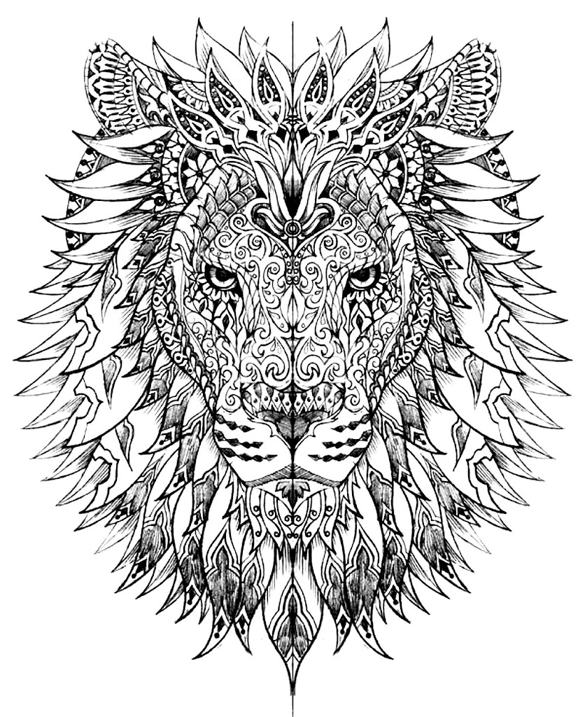 very hard coloring pages for adults - best free coloring pages for adults difficult animals