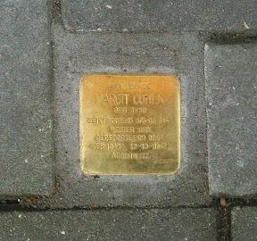 Margit Cohen - Beltstraat 28a - Stolperstein Enschede.