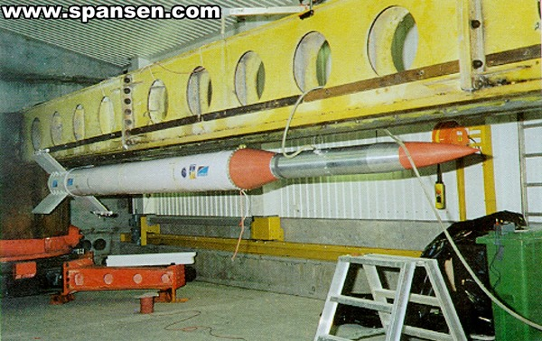 ISRO RH-300 Mk.II - Isbjorn-1 - Sounding Rocket in Norway