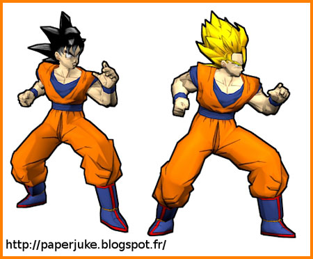 Dragon Ball Z Budokai Goku Papercraft
