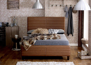 Great LB bonded leather bed frame available sizes u u