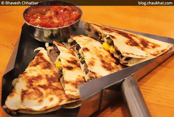 Corn Fusion Quesadillas at Double Roti, Viman Nagar, Pune