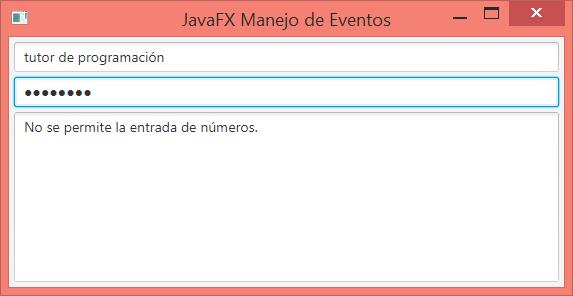 JavaFX Eventos de teclado