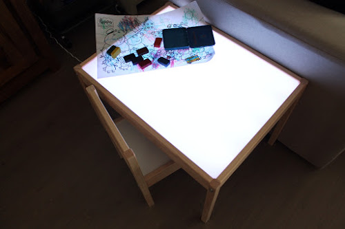 Not 2 late to craft: Taula de llum casolana / DIY light panel